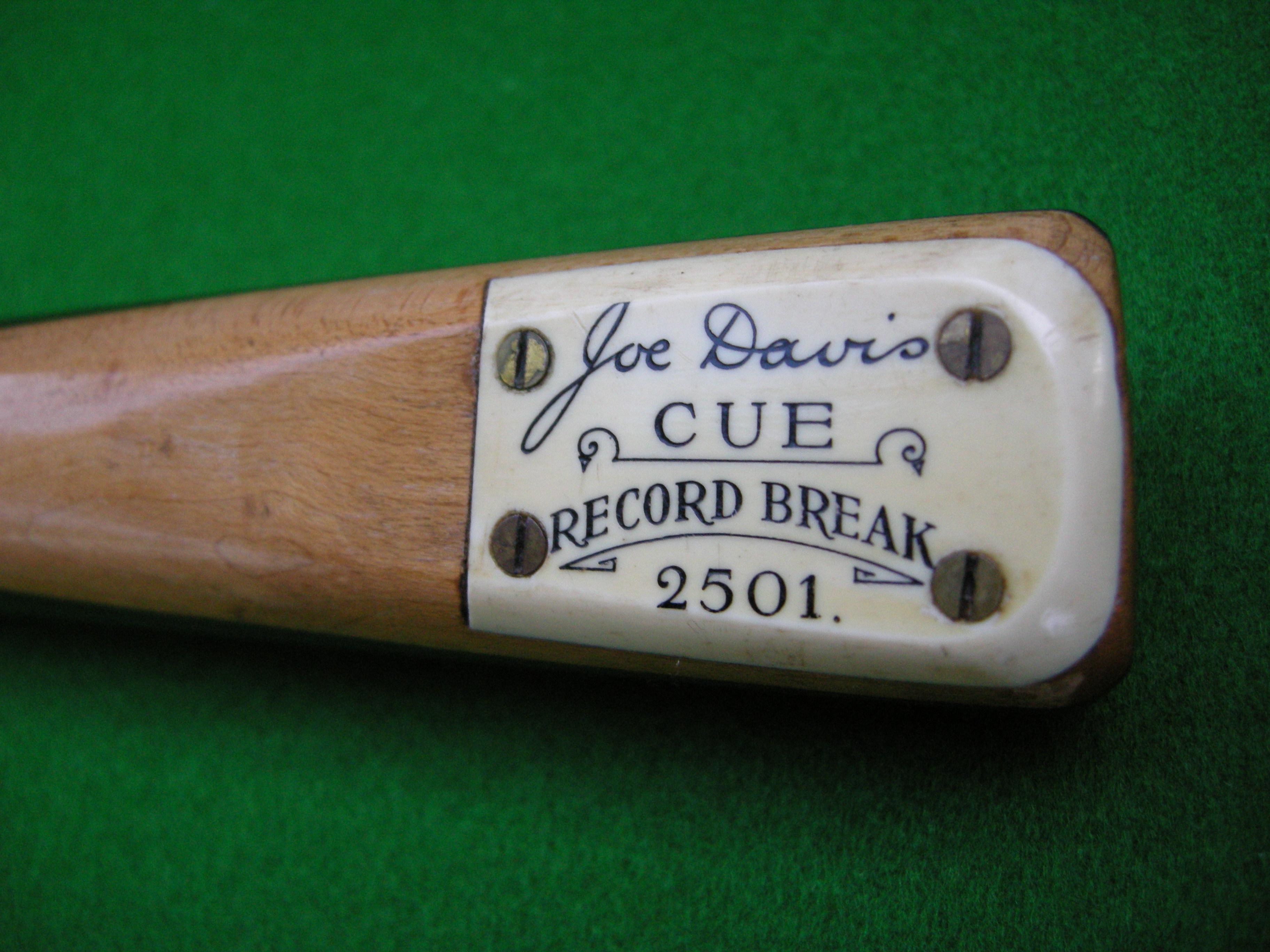 Joe Davis 2501 Billiards Break