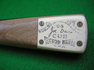 Peradon Joe Davis 96 Snooker Break Cue ~ Extremely Scarce