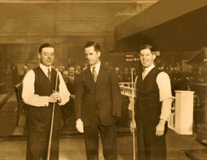 JOE DAVIS ARTHUR GOUNDRILL WALTER LINDRUM PHOTO