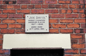 joe davis plaque
