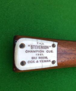 STEVENSON CHAMPION CUE COX-&-YEMAN-1901