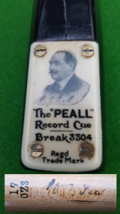 PEALL 3304 Record Break SIGNED CUE